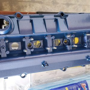 BMW manifold powder coated metallic blue