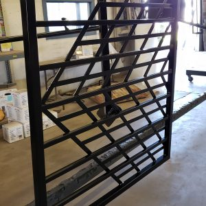 Powder coated iron gate